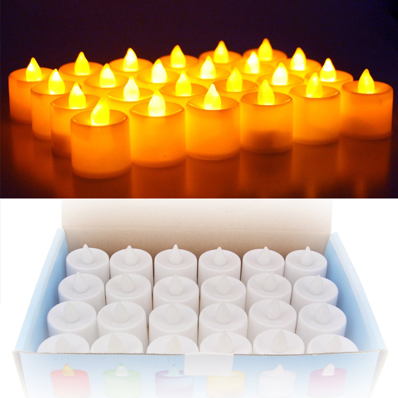 22pcs/lot Flickering Tea light include battery Remote Control LED Candle bougie velas Electric chandelle party birthday candles