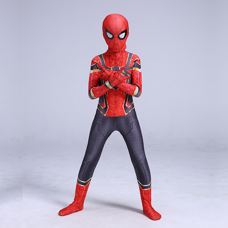Iron Spider-man Costume Halloween Costume for Kids My Hero Academia Cosplay Carnival Costume Boys Girls Party Cosplay