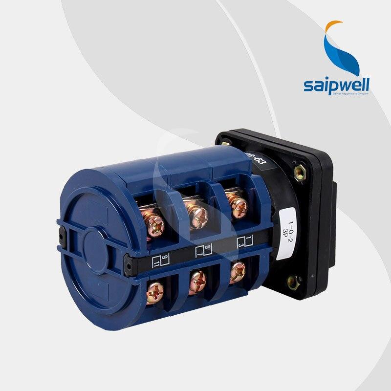 CE approuvé 220 V-660 V Volt tension 63 ampères 3 Positions 12 bornes à vis commutateur/commutateur rotatif LW26-63 - 3