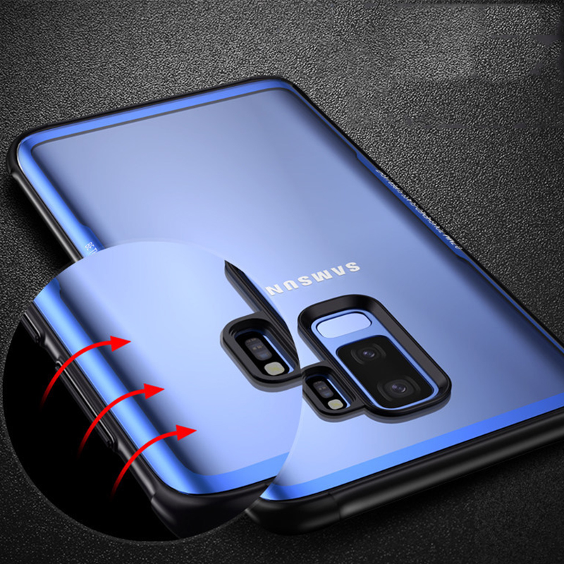 Luxury Transparent Glass Phone Case For Samsung Galaxy Note 9 Soft TPU Edge Tempered Glass Cases For Samsung Note 9 Note9 Coques (3)