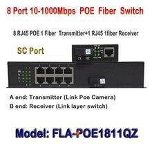 1000M 8 port poe 802.3af Ethernet Switch SM Fiber Optical Transceiver CCTV IP Security Camera Power Over Ethernet Switch DC48V