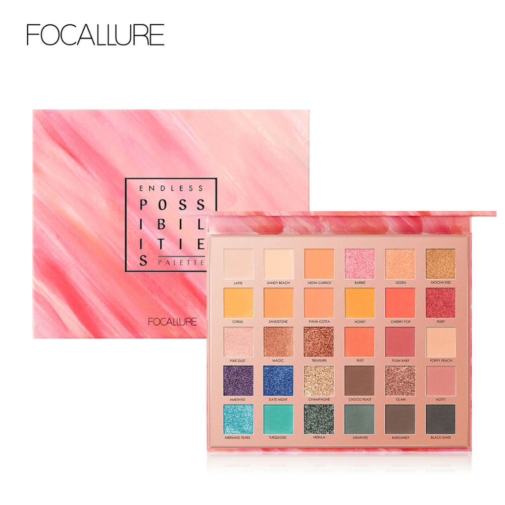 Honest Focallure 30 Colors Eyeshadow Pallete Glitter High Pigment Eye Makeup Easy To Wear Waterproof Eye Shadow To Have A Unique National Style Beauty Essentials