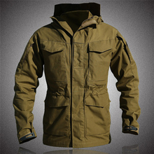 M65 тактическая куртка Для мужчин армии США Полевая куртка Осенняя водонепроницаемая одежда ветровка с капюшоном много карман куртка в стиле милитари с камуфляжным принтом