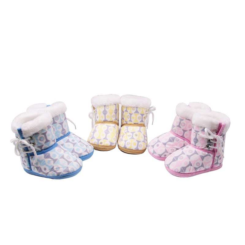 Winter Baby Shoes Snow Cotton Warm Infant Soft Soled For Girl Anti-slip toddler shoes