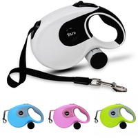 2 in 1 Pet Dog Retractable Leash Dog Leashes for Large Dogs W/ Waste Bag Dispenser Nylon Automatical Leash Training Walking Lead