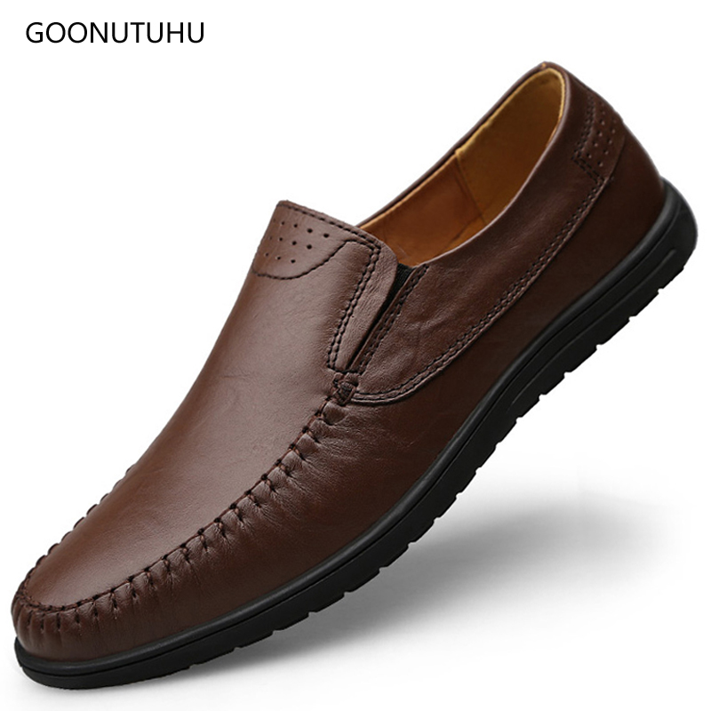 Fashion shoes genuine leather loafers 2018 summer men's casual shoes - Men's Shoes - Photo 1