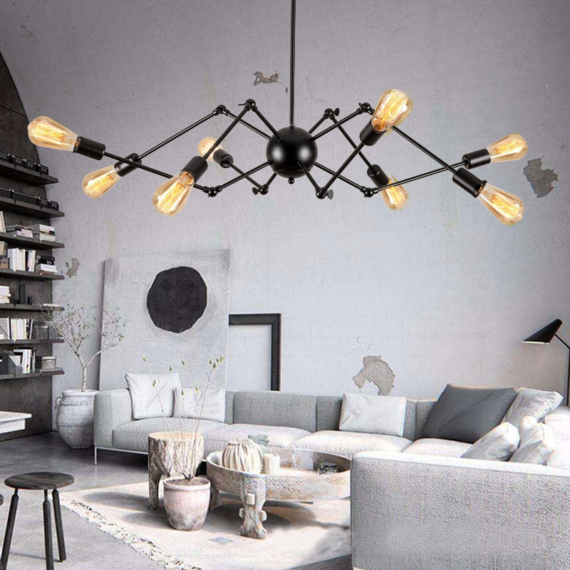 Nordic Creative Spider Dining-Room Art of Contemporary and Contracted Sitting Room Lanterns of Clothing Store Office Chandelier ledream contracted and creative personality sitting room dining room art glass chandelier american cherry branches pendent lamp