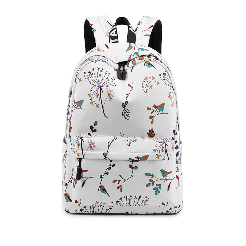 Casual Waterproof Women Backpack Flower Printing Girls College Laptop Bookbags Lady Travel Bagpack