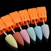 1 PC New Women Silicone Nail Drill Machine Bits ElectricCuticle Cleaner Nail Polisher Beauty Ceramic Pedicure Manicure Tools Nail Art Accessories