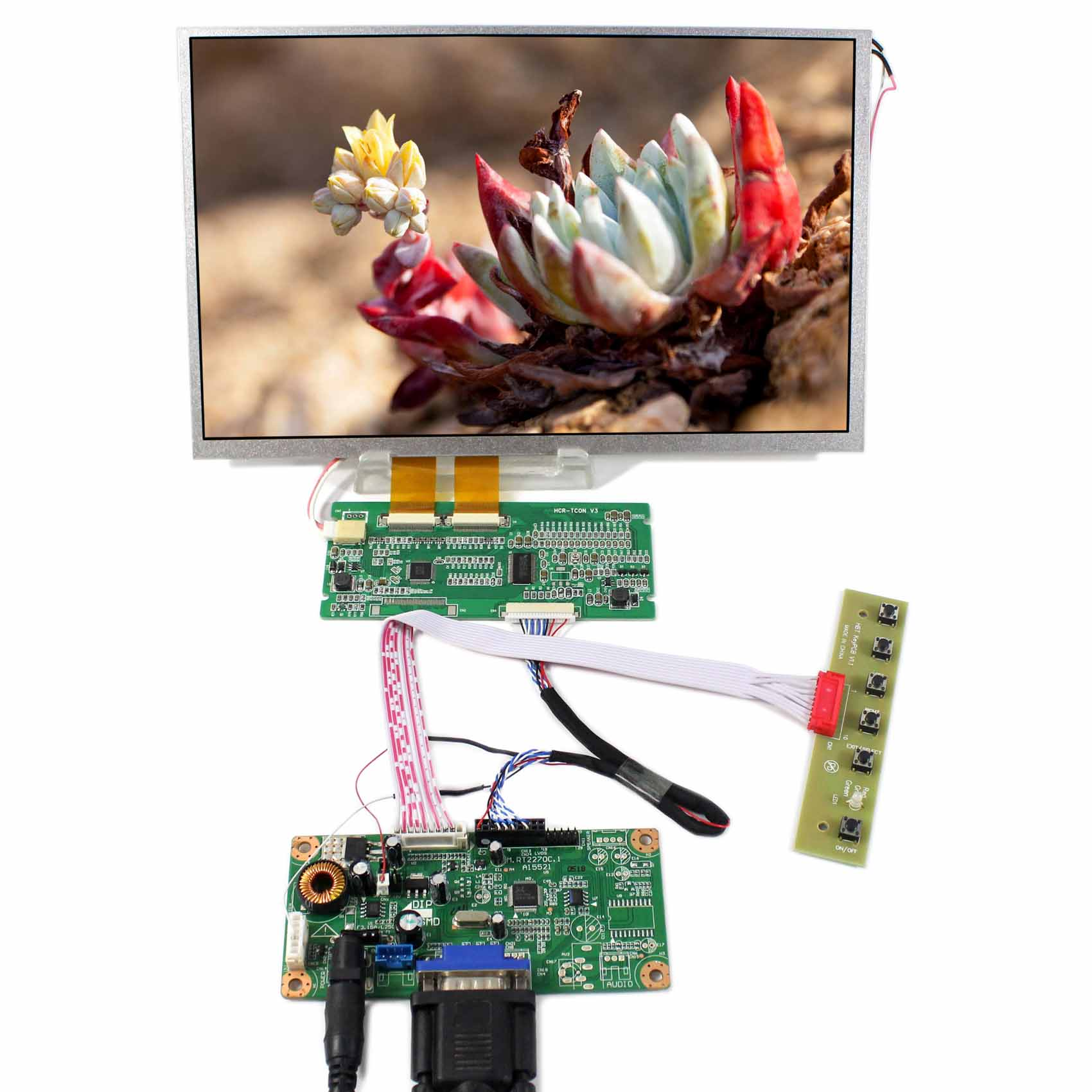 LVDS to TTL Board VGA LCD Controller Board RT2270C-A+10.2inch 800x480 TTL LCD Screen vm70a vga to lvds lcd controller board for mt215dw01 v2 21 5 inch 1920x1080 2ccfl lvds video board free shipping