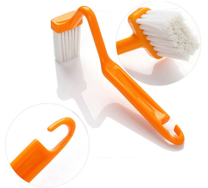new portable toilet brush scrubber v type cleaner clean brush bent bowl handle in cleaning. Black Bedroom Furniture Sets. Home Design Ideas