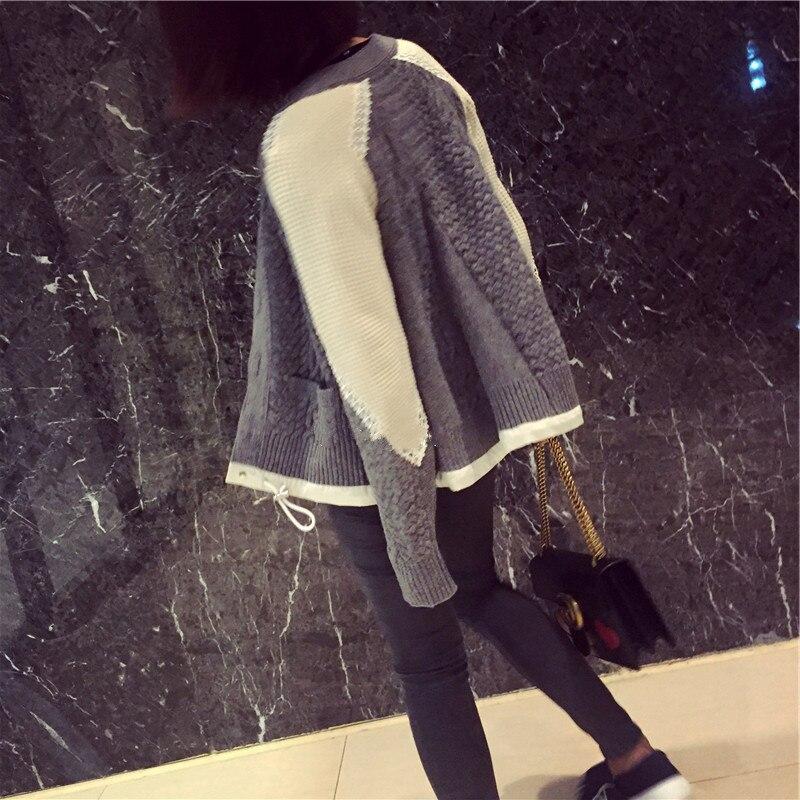 Dentelle Style Coréenne Couture 2019 Mode Manteau Nouveau Superaen Sauvage Grey Cardigan Femmes Casual Printemps Chandail gRxCTn