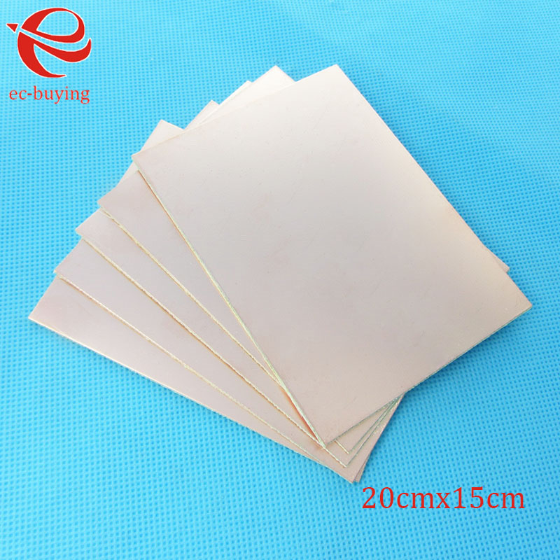 Image 2 - 10pcs/lot Copper Clad Laminate One Single Side Plate CCL 20x15cm 1.5mm FR 4 Universal Board Practice PCB DIY Kit 200*150*1.5mmSingle-Sided PCB   -