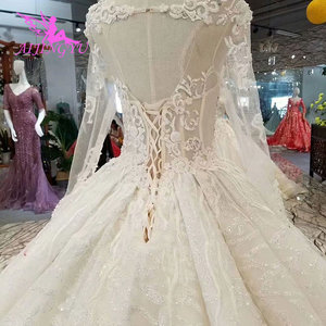 Image 5 - AIJINGYU Wedding Gowns With Sleeves Buy Gown Online Imported Romantic Love Train Dresses Satin New Wedding Dress