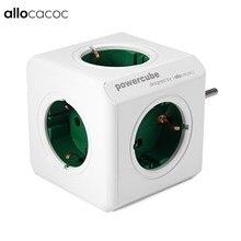 Allocacoc PowerCube Buchse DE Stecker 5 Outlets Power Streifen Schalter Adapter 16A 250V