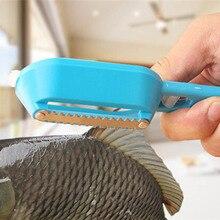 Нож-скребок для рыбной чешуи из нержавеющей стали, Очищающий средство от накипи, кожа, сталь, рыбная чешуя, щетка для удаления, скалер, скребок KC1018