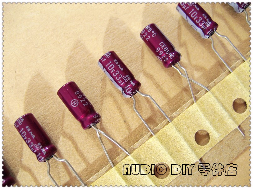 10PCS/50PCS ELNA Purple Red Robe R2O 33uF 10V 10V33UF Copper Foot Audio Electrolytic Capacitor