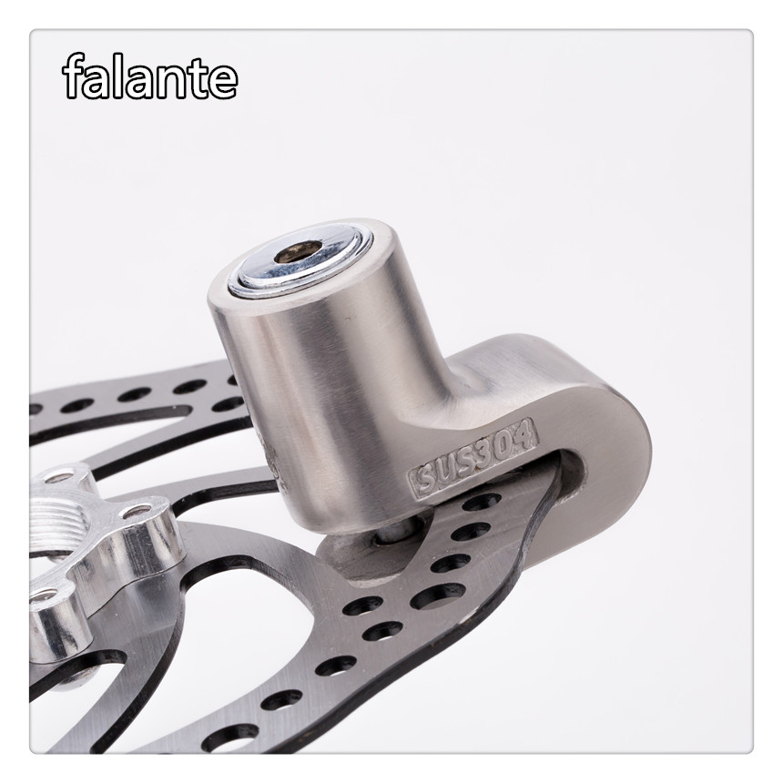 Free Shipping Stainless Steel 304 Material Roulette Lock Bicycle Motorcycle Moto Motor Brake Disc Lock