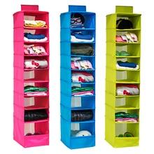 Umývatelná kolekce barevných organizátorů Závěsné police na závěsy, Organizér na boty s 9 polohami, Závěsný úložný prostor pro organizér skříně