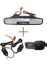 Беспроводная Автомобильная Камера Заднего вида для VW Volkswagen Polo V (6R)/Golf 6 VI/Passat CC, с 4.3 Дюймов Зеркало заднего вида Монитор