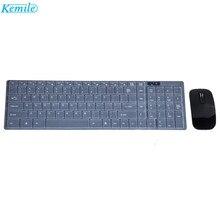 Kemile 2.4G Ultra Slim Wireless Keyboard and Mouse Set Combo UK Layout For PC Laptop-Black/white