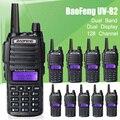 10 pçs/lote New Design Handheld Walkie Talkie BaoFeng UV-82 Dual Band 136-174 MHz & 400-520 MHz com Duplo Botão PTT rádio UV82