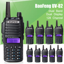10pcs/lot New Design Handheld Walkie Talkie BaoFeng UV-82 Dual Band 136-174MHz&400-520MHz with Double PTT Button radio UV82
