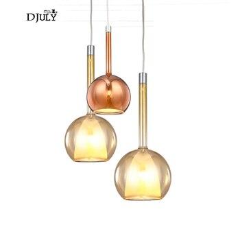 Bắc âu thiết kế hiện đại chai stained glass đèn mặt dây chuyền cho phòng khách phòng ăn nhà bếp led treo đèn nhà deco đồ đạc