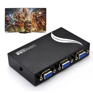 Image 3 - Sıcak satış 15HDF 2 Port 2 IN 1 OUT Switcher seçici kutusu iki yönlü VGA Video anahtarı PC için dizüstü bilgisayar masaüstü monitör TV