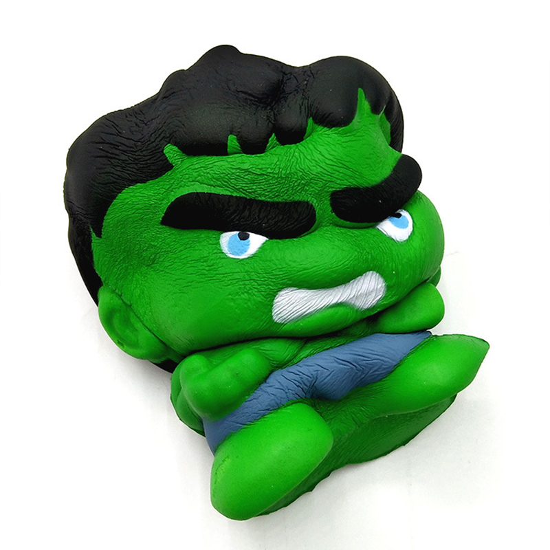 Squishy Cartoon The Avengers PU Simulation Superman Hulk iron Man Slow Rising Soft PU Simulation Rebound Stretchy Squeeze Toys