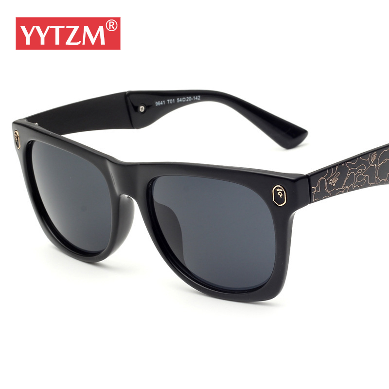 YYTZM Glasses Wide Legs Camouflage Caving Frame Colorful lens