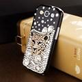 ПМГ черный леопард голову горный хрусталь случай мобильного телефона для Samsung Galaxy S3 I9300