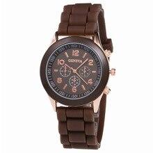 Geneva Casual Watch Women Dress Watch 2016 Quartz Military men Silicone watches Unisex Wristwatch Sports watch relogio feminino