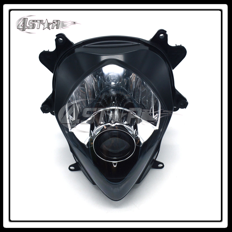 Motorcycle Front Black Headlights Headlamps Head Lights Lamps Assembly For GSXR GSXR1000 2007 2008 Supermoto Free Shipping