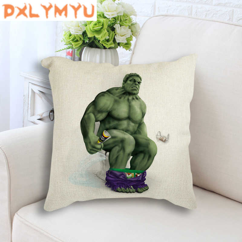 Captain America Hulk Batman Spiderman Cetak Dekoratif Melempar Bantal Case Almofadas untuk Sofa Bantal Cover Cojines Sarung Bantal