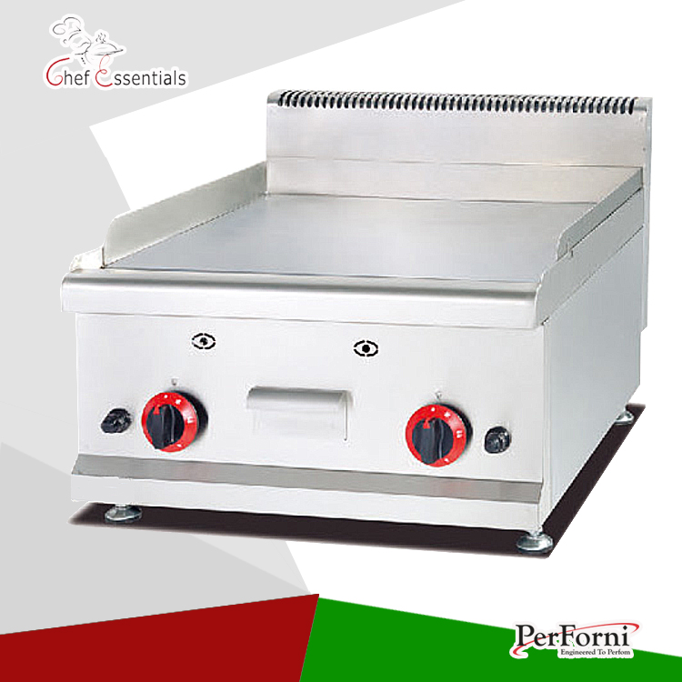 PKJG-GH586 stainless steel gas griddle counter-top gas griddle for western equipment resturant fast food leisure fast food equipment stainless steel gas fryer 3l spanish churro maker machine