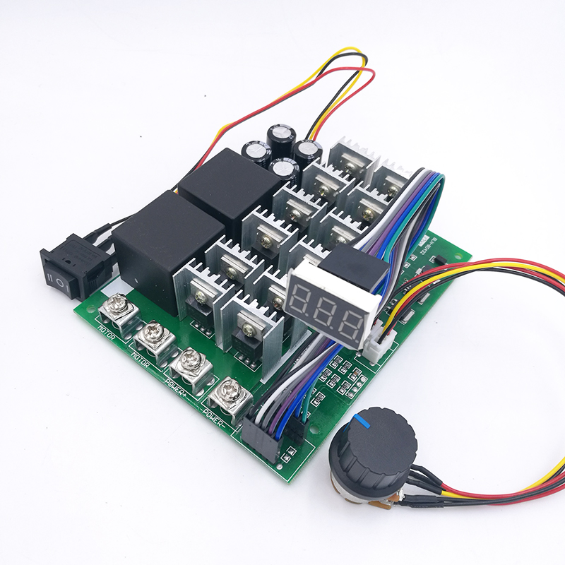 60A 10-55V Digital display PWM speed controller module forward reversal 0~100% adjustable DC motor 12V 24V 36V 48V MAX 100A dc10 55v max 60a pwm motor speed controller 0 100
