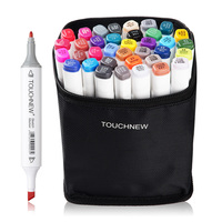 TOUCHNEW 36 48 Colors Markers Pen Oily Alcohol Double Headed Art Markers Set For Common Design