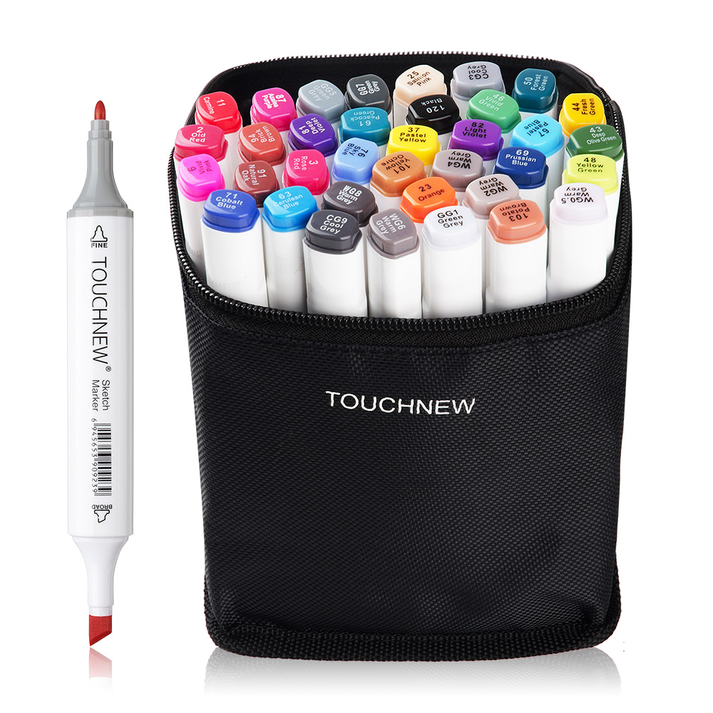 TOUCHNEW  36/48 Colors Markers Pen Oily Alcohol Double Headed Art Markers Set For Common DesignTOUCHNEW  36/48 Colors Markers Pen Oily Alcohol Double Headed Art Markers Set For Common Design