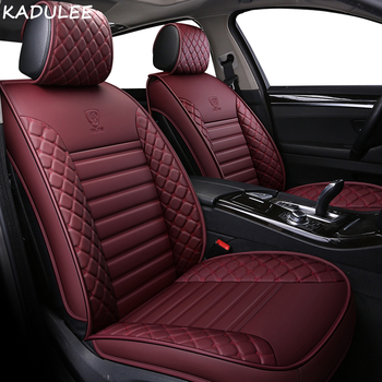 KADULEE PU Leather car seat covers For Volvo S60L V40 V60 S60 XC60 XC90 XC60 C70 s80 s40 auto accessories car styling 3D Black