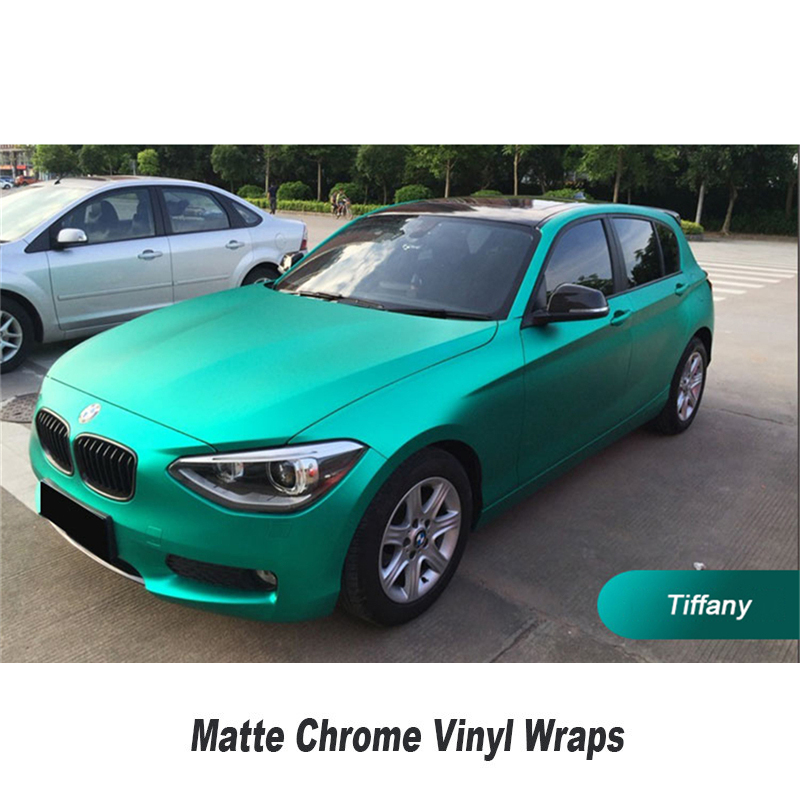 air channels in the adhesive Multicolor Matt chrome Vinyl wrap Car Wrap size:5ft X 65ft/Roll Ensure quality is qualified