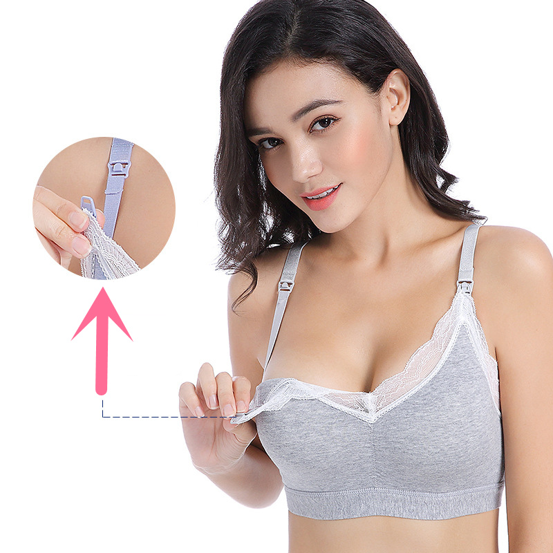Breastfeeding Cotton Maternity Adjustable Cup Nursing Bra Mothers Feeding Nursing Pregnancy Clothes Women Open Buckle Underwear