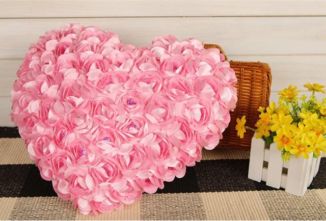 Divano Forma Rosa : A forma di cuore di modo cuscino sedia cuscini cuscino della stretta
