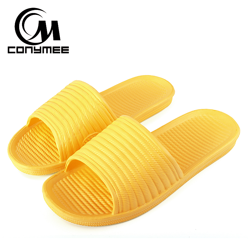 CONYMEE Summer Sandals 2018 Men Women Shoes Fashion Flip Flops Indoor Home Slippers Zapatos Mujer Candy Color Sandalias Feminina fashion new summer cork women sandals casual mixed color flip flops valentine shoes zapatos mujer sandalias plus size 35 42