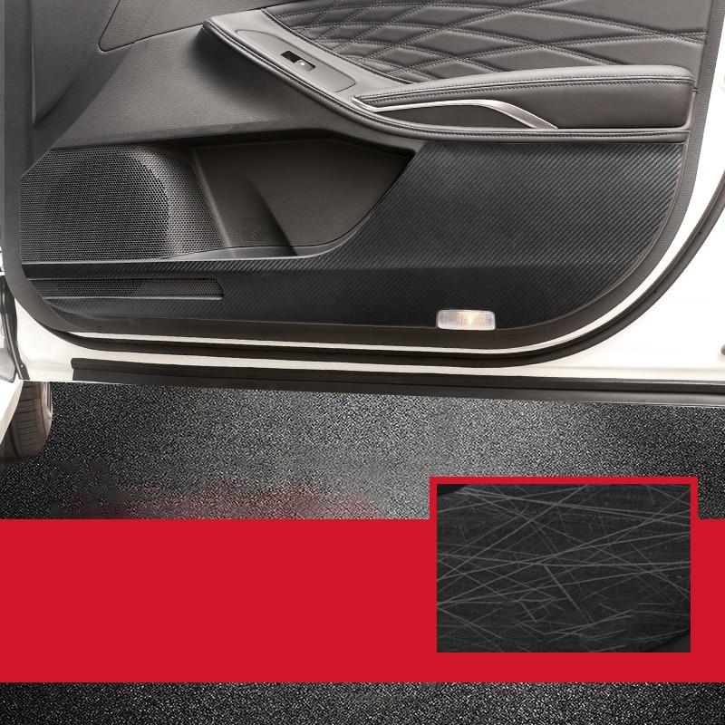 Fits For 2013-2015 STY Toyota RAV4 Anti-kick Carbon Interior Car Door Film