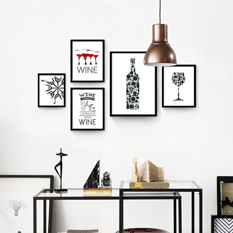 Abstract Bottle Glass Print No Frame Nordic Picture Canvas Mural ...