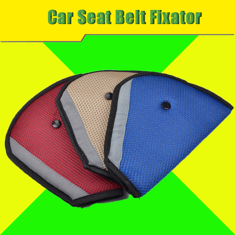 Car Seat Belt Fixator Safe Fit Seat Belt Sturdy Adjuster Car Safety Belt Adjust Device Triangle For Children Kids Baby