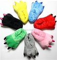 Kids Catoon Shoes Autumn And winter Super Soft Coral Velvet Paw Shoes Explosion Models Of Dinosaurs Stitch Plush Cotton Slippers
