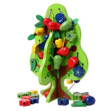 Golden Key Montessori Baby Wooden Puzzle Toys Wisdom Tree Beads building blocks educational toys for child boys and girls