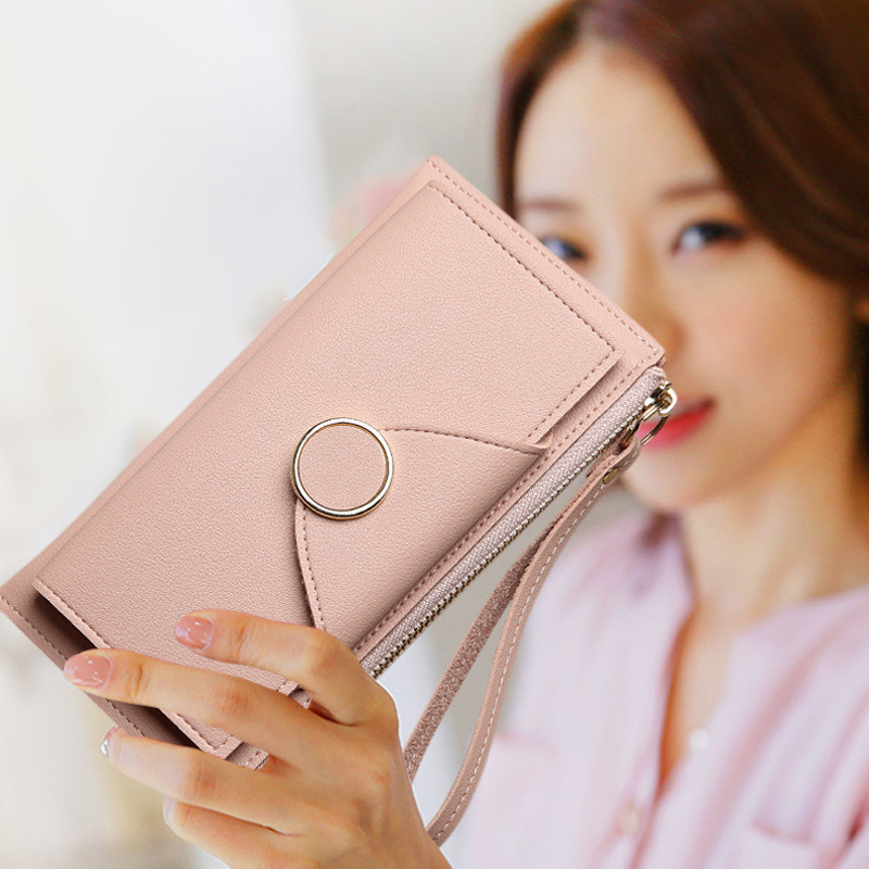 Women Wallets Women Purse Female Wallet Pu Leather Soft Long Wallets Chain Purse Large Capacity Luxury Brands Clutch Bags chain
